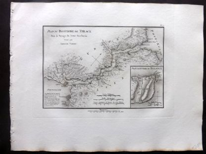 Barthelemy 1824 Antique Map. Plan du Bosphore de Thrace. Turkey